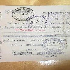 Documentos bancarios: AÑO 1927. PAGARÉ. RARO Y BONITO DOCUMENTO. ESPAÑOL.. Lote 107491091