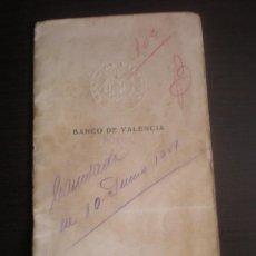 Documentos bancarios: LIBRETA O CARTILLA, CAJA DE AHORROS DEL BANCO DE VALENCIA EN PUZOL. Lote 108420179