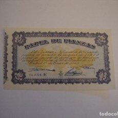 Documentos bancarios: (ALB-TC-8) PAPEL DE FIANZAS CLASE E 5 PESETAS 1940. Lote 109060807