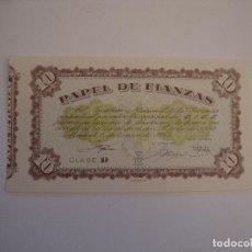Documentos bancarios: (ALB-TC-8) PAPEL DE FIANZAS CLASE D 10 PESETAS 1965. Lote 109060891
