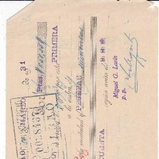 Documentos bancarios: MIGUEL G. LAVIN BILBAO 1931. Lote 109181011