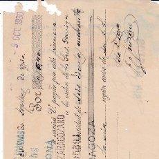 Documentos bancarios: LETRA BARCELONA 1930. Lote 109181271