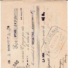 Documentos bancarios: LETRA JOAQUÍN ARIMÓN SABADELL 1935. Lote 109184359