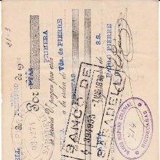 Documentos bancarios: LETRA PABLO PIERRE SABADELL 1936. Lote 109184543