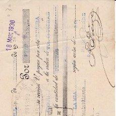 Documentos bancarios: LETRA PABLO PIERRE SABADELL 1936. Lote 109184771