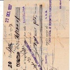 Documentos bancarios: LETRA BARCELONA 1937 . Lote 109185703