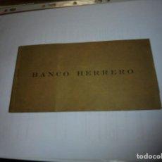 Documentos bancarios: BANCO HERRERO TALONARIO DE CHEQUES OVIEDO 1949. Lote 110143067