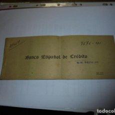 Documentos bancarios: ANTIGUO TALONARIO DE CHUEQUES BANCO ESPAÑOL DE CREDITO . Lote 110146523