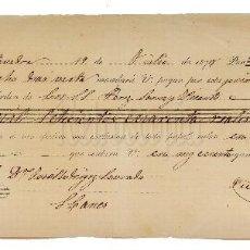 Documentos bancarios: LETRA DE CAMBIO JULIÁN P. VILLELGA. PONTEVEDRA 1878. Lote 110226979