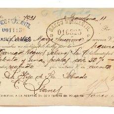 Documentos bancarios: LETRA DE CAMBIO GARRIGA NOGUES SOBRINOS. BARCELONA 1919. Lote 110227779