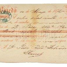 Documentos bancarios: LETRA DE CAMBIO TERESA GÓMEZ. OVIEDO ASTURIAS 1872. Lote 110228183