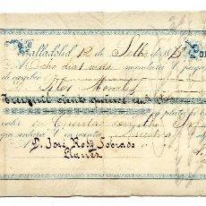 Documentos bancarios: LETRA DE CAMBIO S. RICA Y COMPAÑÍA. VALLADOLID 1873 . Lote 110351235