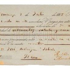 Documentos bancarios: LETRA DE CAMBIO VIUDA DE FIRMAT Y VELO. TORRELAVEGA SANTANDER 1865 . Lote 110352035