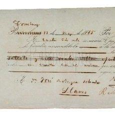 Documentos bancarios: LETRA DE CAMBIO VIUDA DE FIRMAT Y VELO. TORRELAVEGA SANTANDER 1865 . Lote 110352231