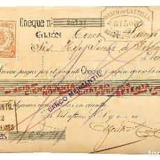 Documentos bancarios: CHEQUE ALMACÉN DE TEJIDOS AZCOITIA HERMANOS. GIJÓN ASTURIAS AÑO 1922. Lote 112265179