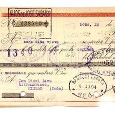 Documentos bancarios: LETRA DE CAMBIO HIJOS DE JOSÉ SABATER. REUS TARRAGONA AÑO 1942. Lote 112269671