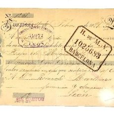 Documentos bancarios: LETRA DE CAMBIO FRANQUERIA BOTILLERIA FARMACIA RUBERT HERMANOS. BARCELONA AÑO 1899. Lote 112269875