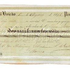 Documentos bancarios: LETRA DE CAMBIO GALCERAN Y COMPAÑÍA. OVIEDO ASTURIAS 1865. Lote 112270839