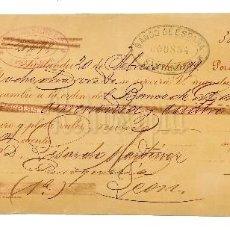 Documentos bancarios: LETRA DE CAMBIO FÁBRICA DE PARAGUAS, SOMBRILLAS Y BASTONES PÉREZ DEL MOLINO Y CIA. SANTANDER 1899. Lote 112271315