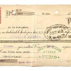 Documentos bancarios: LETRA DE CAMBIO GALLETAS ARTIACH. BILBAO AÑO 1937. Lote 112271583