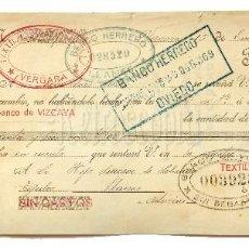 Documentos bancarios: LETRA DE CAMBIO FABRICA DE TEJIDOS PEDRO LASAGABASTER. VERGARA GUIPUZCOA AÑO 1925. Lote 112272659