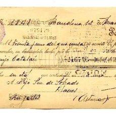 Documentos bancarios: LETRA DE CAMBIO GRÁFICA MANEN LITOGRAFIA GENERAL IMPRENTA RECLAMOS. BARCELONA AÑO 1925. Lote 112273923