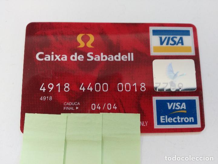 ((TC-110) TARJETA BANCO BANCARIA CAIXA DE SABADELL (Coleccionismo - Documentos - Documentos Bancarios)