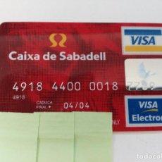 Documentos bancarios: ((TC-110) TARJETA BANCO BANCARIA CAIXA DE SABADELL. Lote 112788139