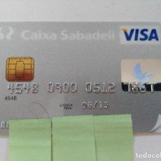 Documentos bancarios: ((TC-110) TARJETA BANCO BANCARIA CAIXA DE SABADELL. Lote 112788175