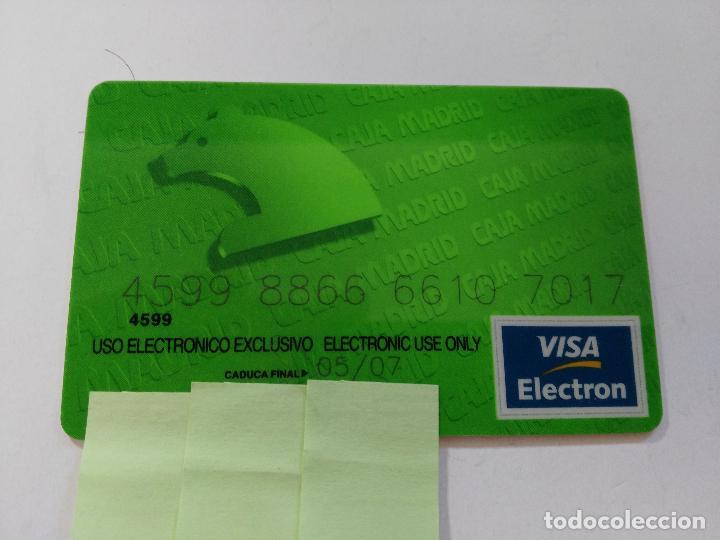 ((TC-110) TARJETA BANCO BANCARIA CAJA MADRID (Coleccionismo - Documentos - Documentos Bancarios)