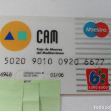 Documentos bancarios: ((TC-110) TARJETA BANCO BANCARIA CAM. Lote 112788239