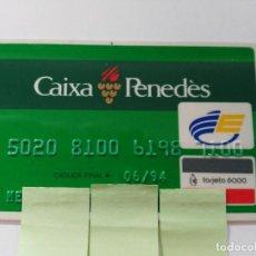 Documentos bancarios: ((TC-110) TARJETA BANCO BANCARIA CAIXA PENEDES. Lote 112788371