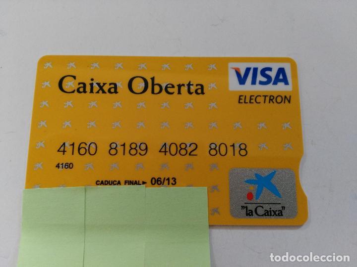 ((TC-110) TARJETA BANCO BANCARIA CAIXA OBERTA (Coleccionismo - Documentos - Documentos Bancarios)