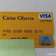 Documentos bancarios: ((TC-110) TARJETA BANCO BANCARIA CAIXA OBERTA. Lote 112788403