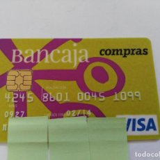 Documentos bancarios: ((TC-110) TARJETA BANCO BANCARIA BANCAJA. Lote 112788439