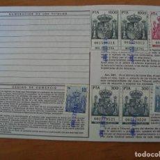 POLIZA 5.260 PTS OPERACIONES CONTADO BOLSA DE MADRID 1987