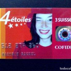 Documentos bancarios: TARJETA DE CREDITO COFIDIS 4 ÉTOILES-3 SUISSES,CON BANDA MAGNETICA. Lote 113885027