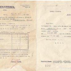 Documentos bancarios: BANCA VILELLA REUS 1957 TITULO DE LA CUENTA ASOCIACION ANTIGUOS ALUMNOS INSTITUTO GAUDI . Lote 114390467