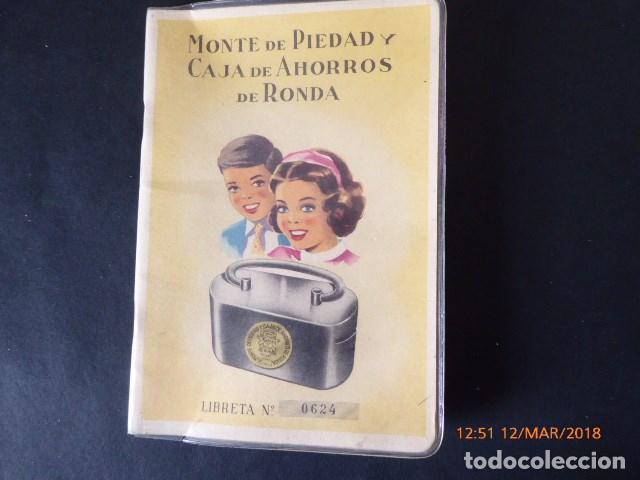 MALAGA, CARTILLA DE AHORROS, DE RONDA, 1956 (Coleccionismo - Documentos - Documentos Bancarios)