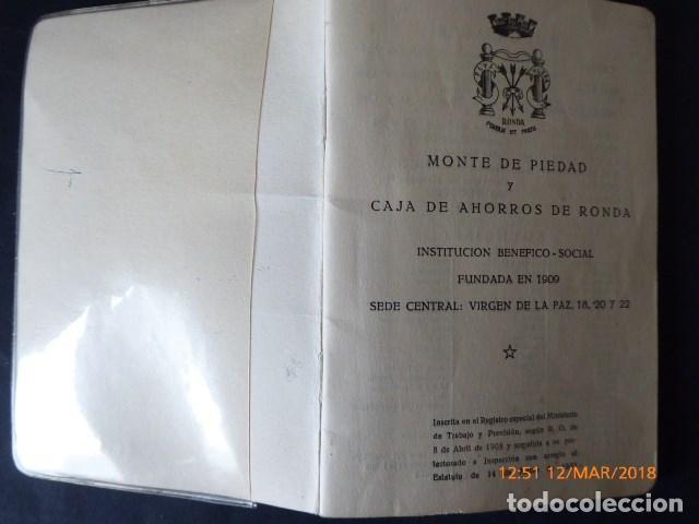 Documentos bancarios: malaga, cartilla de ahorros, de ronda, 1956 - Foto 2 - 115014059