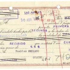 Documentos bancarios: LOTE DE 6 LETRAS DE CAMBIO Y RECIBOS BANCARIOS DE DIFERENTES VALORES. AÑOS 1975 Y 1976. Lote 115245823