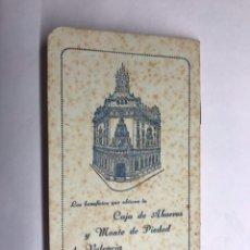 Documentos bancarios: VALENCIA. LIBRETA. CAJA DE AHORROS Y MONTE DE PIEDAD (A.1949). Lote 116736964