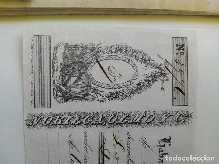 Documentos bancarios: letra de cambio LA HABANA 1850 - JOSE MARTORELL DE BARCELONA - RARA PIEZA - NORIEGA,OLMO Y CIA. - Foto 2 - 117209678
