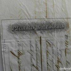 Documentos bancarios: LETRA DE CAMBIO FECHADA 1845 EN MATANZAS CUBA - PICARD&ALBERS - RARA PIEZA. Lote 117216171