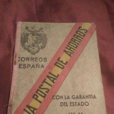 Documentos bancarios: LIBRETA AHORROS CAJA POSTAL 1942. Lote 117314755