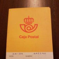 Documentos bancarios: CARTILLA DE AHORROS CAJA POSTAL. Lote 117990132