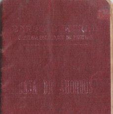Documentos bancarios: ANTIGUA LIBRETA CAJA DE AHORROS DEL BANCO CENTRAL. VALENCIA 1931.. Lote 118343883
