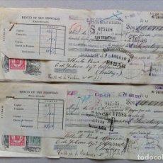 Documentos bancarios: 2 ANTIGUAS LETRAS DE CAMBIO. Lote 119536175
