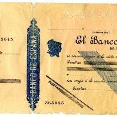 Documentos bancarios: 3 TALONES BANCARIOS DE CUENTA CORRIENTE SIN UTILIZAR. BANCO DE ESPAÑA, INTERNACIONAL DE COMERCIO Y... Lote 120350647