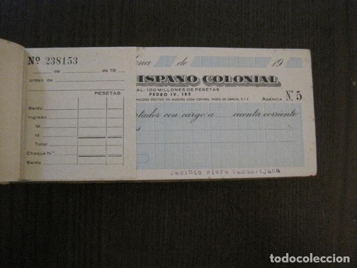 Documentos bancarios: BANCO HISPANO COLONIAL - TALONARIO DE CHEQUES -VER FOTOS-(V-14.513) - Foto 5 - 121061483